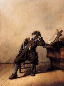 Student at His Desk-Melancholy (1633) by Pieter Codde