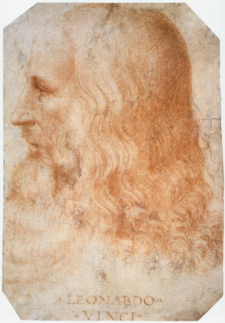 Portrait of Leonardo by Francesco Melzi