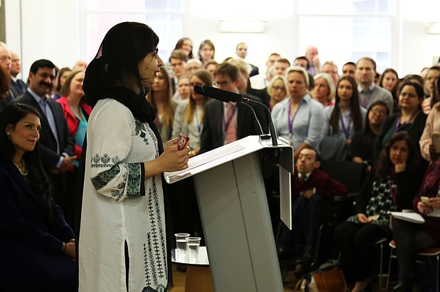 Malala Yousafzai addresses the UK Department for International Development