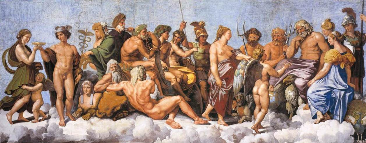 The Council of Gods by Raphael (1517)
